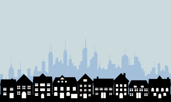 Suburbs and urban city