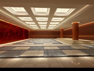 rendering hotel hall