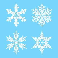 Vector set of snowflakes for design