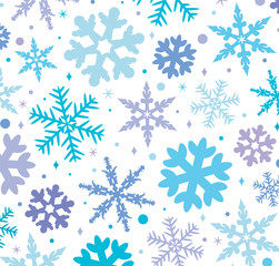 vector winter background with snowflakes