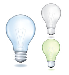 Set  of a light bulbs. Realistic vector illustration.
