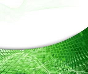 Green geometrical background