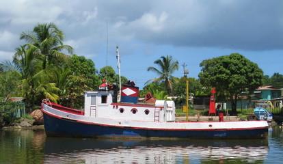 Boat in Almirante, Bocas del Toro, Panama