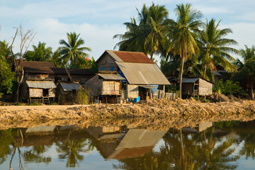 Simple living huts