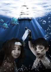 Child Mermaid Underwater