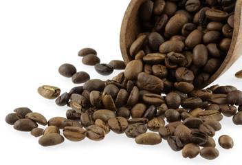 Zelfklevend Fotobehang Koffiebonen grains de café torréfié