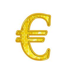 Euro - Alphabet Or avec écailles