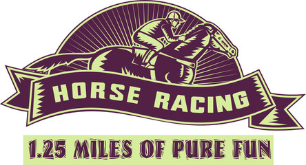'Horse racing' logo