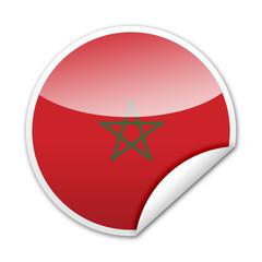 Pegatina bandera Marruecos con reborde