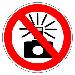 Panneau interdit aux flash