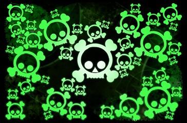 Radioactivity skulls