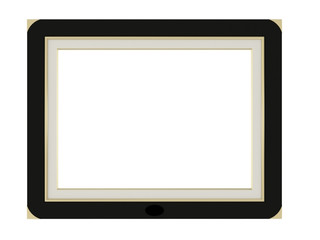 elegance empty picture frame isolated
