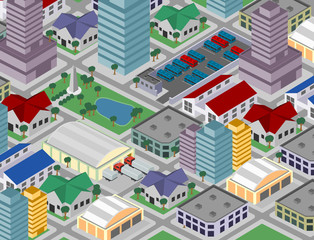 Isometric city (vector)
