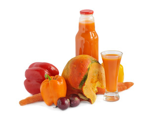 Juice and vegetables