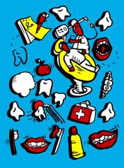 Vector doodly style icon set Medicine Part 1