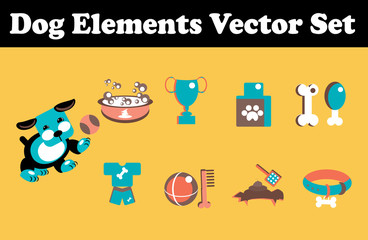 Dog Elements Vector Set