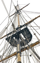 Tall ship mast and rigging