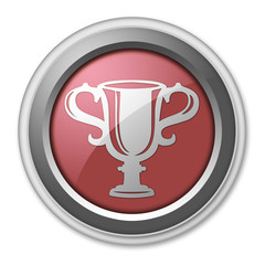 """Red 3D Style Button """"Award Cup"""""""