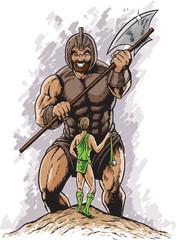 Obraz David vs Goliath - fototapety do salonu