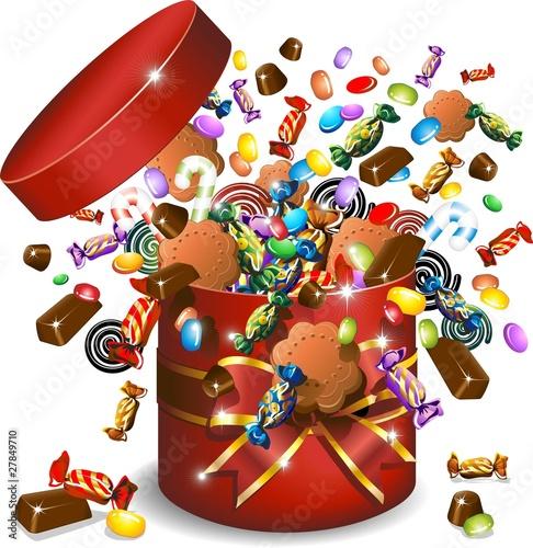 "Candy Clip Art Free Clipart Images 3 Clipartbarn: ""Scatola Caramelle Cioccolato E Biscotti-Candies Gift"