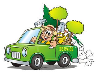 Gardener Service Van