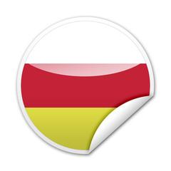 Pegatina bandera Osetia del Sur con reborde