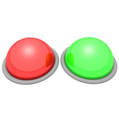 Two large glossy buttons