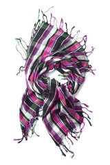 Color scarf isolated on white