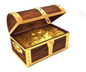 Wooden treasure chest