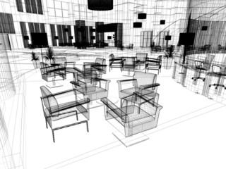 sala d'attesa rendering