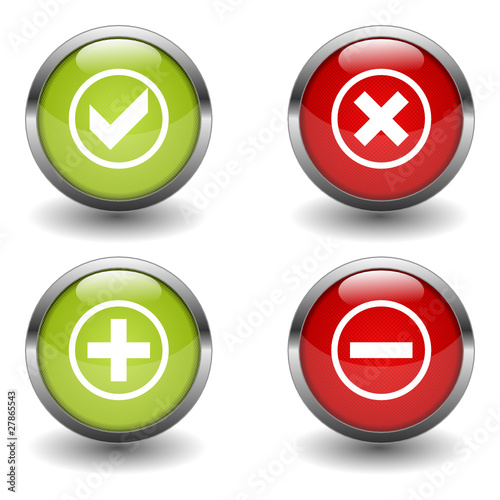 Buttonset Plus Minus Ja Nein Stock Image And Royalty Free Vector