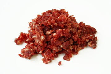 Minced deer meat