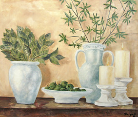 Still life original oil painting