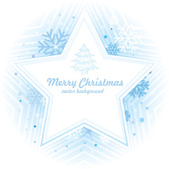 star and snowflake,christmas background