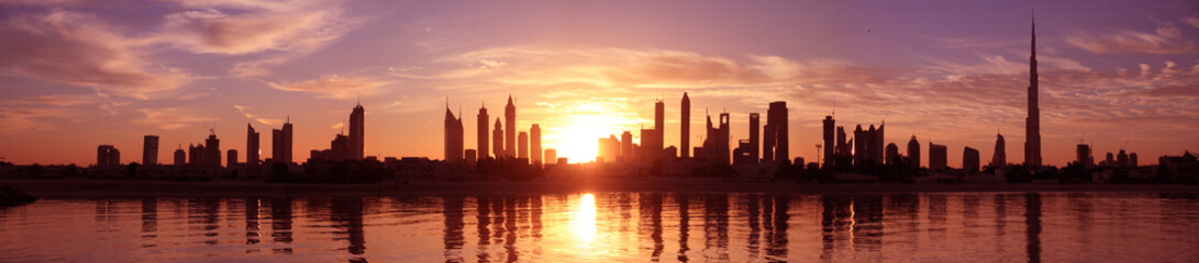 Photo sur Plexiglas Dubai Cityscape Dubai, Sunset