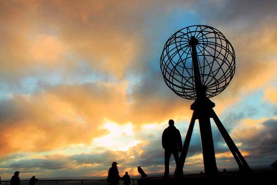 The globe at Nordkapp, Norway