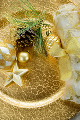 gold xmas decorations- decorazioni natalizie
