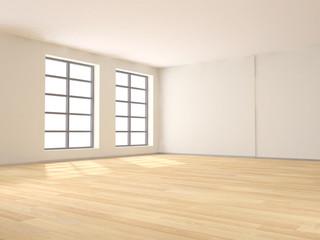 3d stanza vuota da arredare