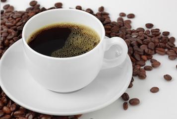 Чёрный кофе зёрна