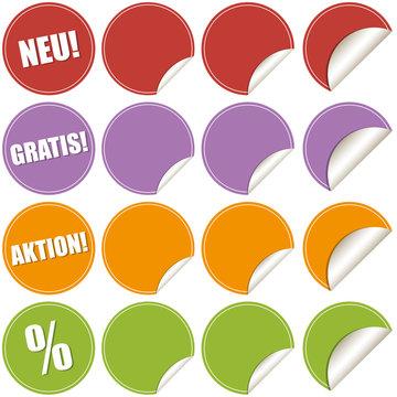 Aufkleber Etiketten