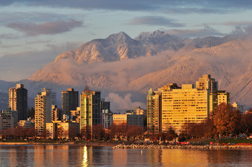 vancouver Golden Sunset Wall mural
