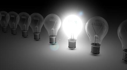 Glühbirne, Lampen, Birne - Konzept Idee