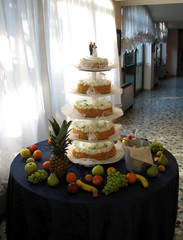 Wedding cake at the restaurant