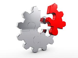 Zahnrad - Puzzle