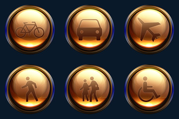 Transport and people icon pack