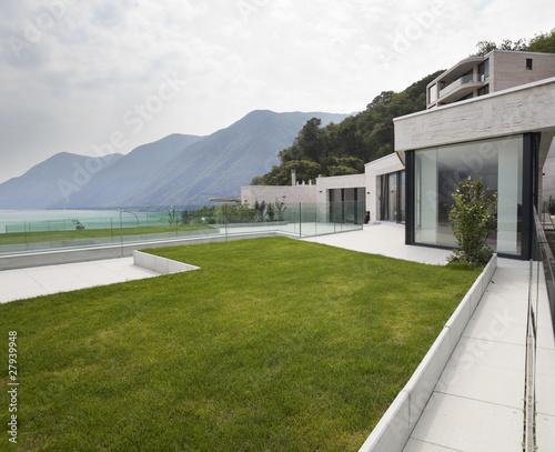 Architettura moderna esterno casa con terrazza e - Architettura casa moderna ...