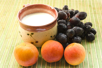apricots milk and grape