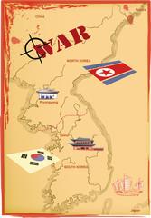 Map Korea, Vector.