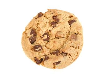 Cookie auf weissem Hintergrund