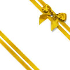 Noeud doré et ruban diagonal